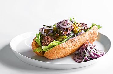 Hotdog-kebab m/ Agurke Relish