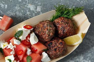 Köfte med melon og feta salat – Tyrkiet