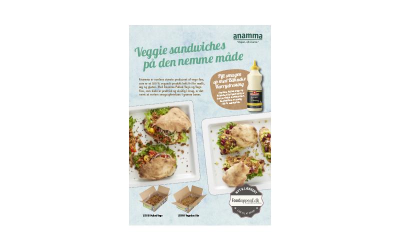 Anamma Veggie sandwiches